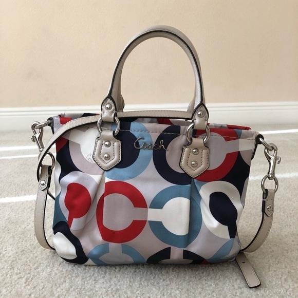 Coach Handbags - Coach Ashley OP Art Scarf Mini Tote Handbag